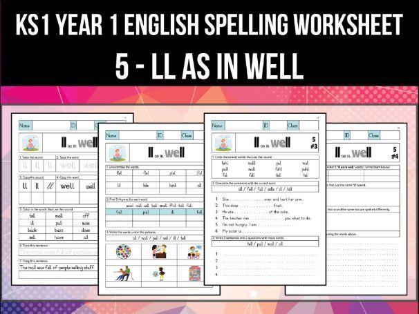 Spelling & Phonics Worksheet - l sound spelled LL