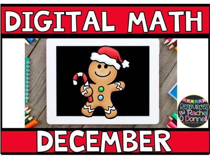 DIGITAL MATH DECEMBER for Google Slides ®