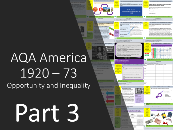 AQA America 1920-1973: Opportunity and Inequality  Part 3