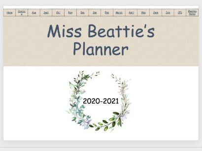 Natural Themed Digital Planner 2020-21