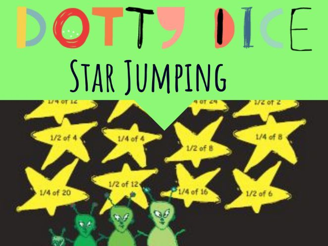 Numeracy Board Game - Star Jumping - Advance Counting- Finding 1/4 & 1/2 of a Number