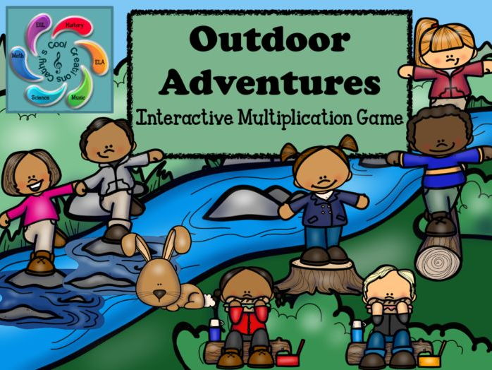 Interactive Multiplication Games-Google Slides / Adobe Reader-Outdoor Adventures