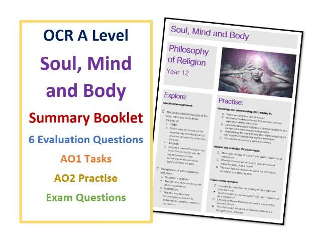 A Level Soul, Mind and Body: Summary Booklet using Specification