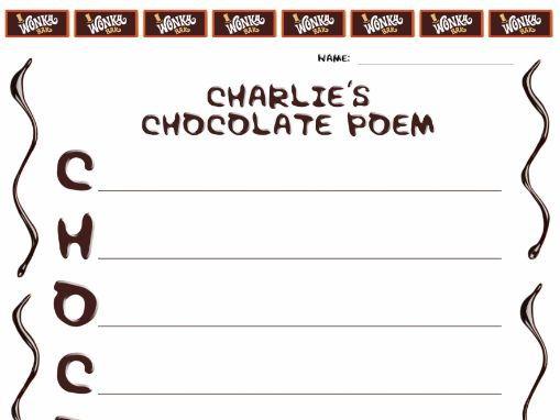 Charlie & the Chocolate Factory Poem Worksheet