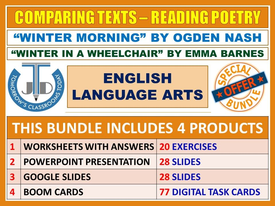COMPARING WINTER POEMS - READING POETRY: BUNDLE