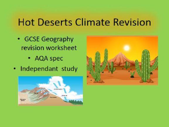 Hot Desert Climate revision