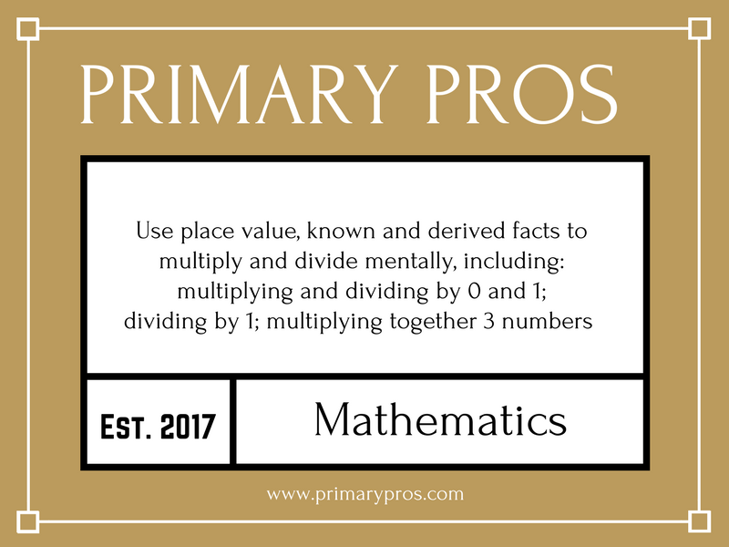 Use place value, known and derived facts to multiply and divide mentally