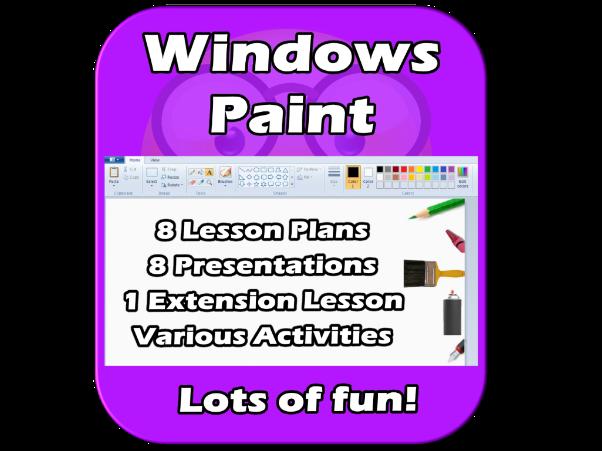 Windows Paint - Complete, FUN, EDITABLE, Unit - 9 lessons :)