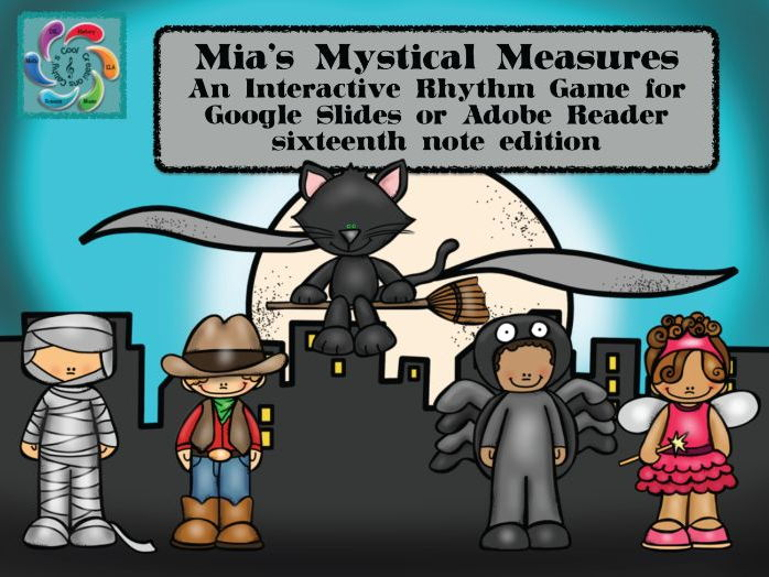 Google Slides Game-Interactive Rhythm Mia's Mystical Measures-Sixteenth notes