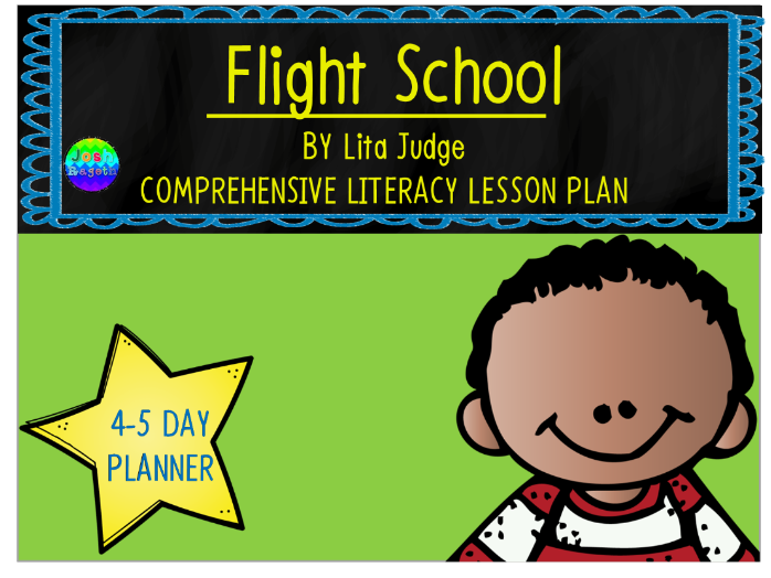 Flight School by Lita Judge 4-5 Day Lesson Plan