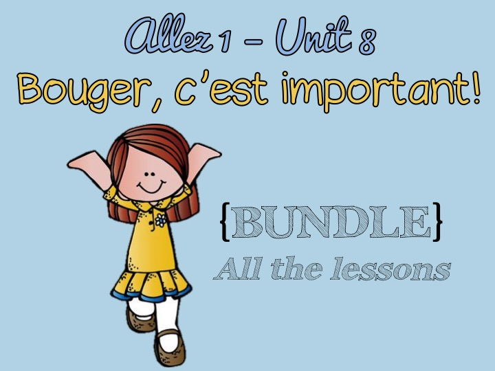 Allez 1 { BUNDLE } ALL the resources for Unit 8 - Le sport - past tense - les maladies -  KS3 French