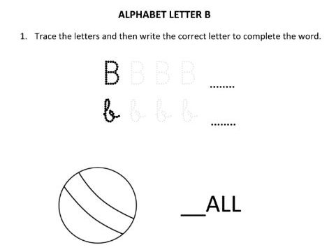 Learning and Writing Letter B for Year 1 Students