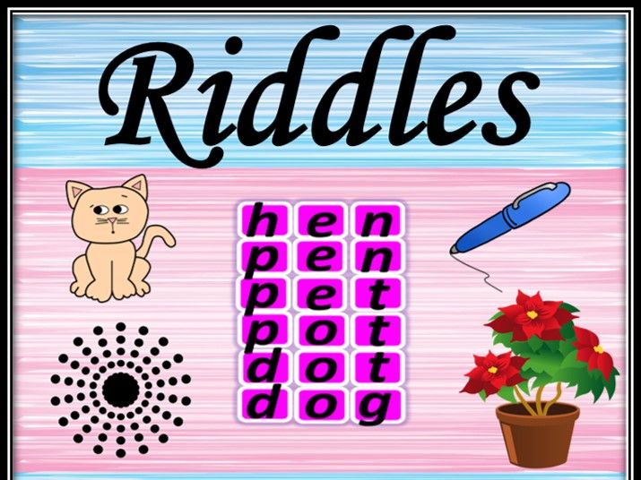 Riddles. Guessing game.