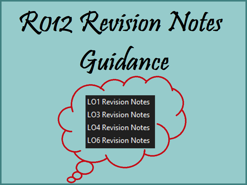 R012 Revision Notes - Guidance