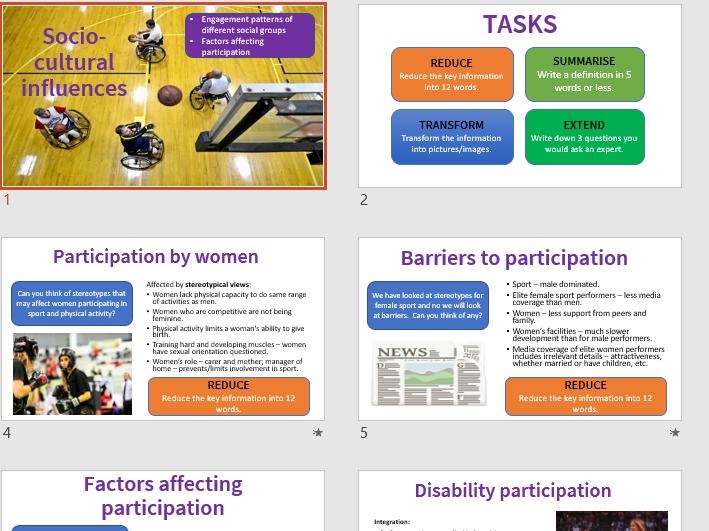 Socio-cultural influences, Engagement patterns, GCSE PE