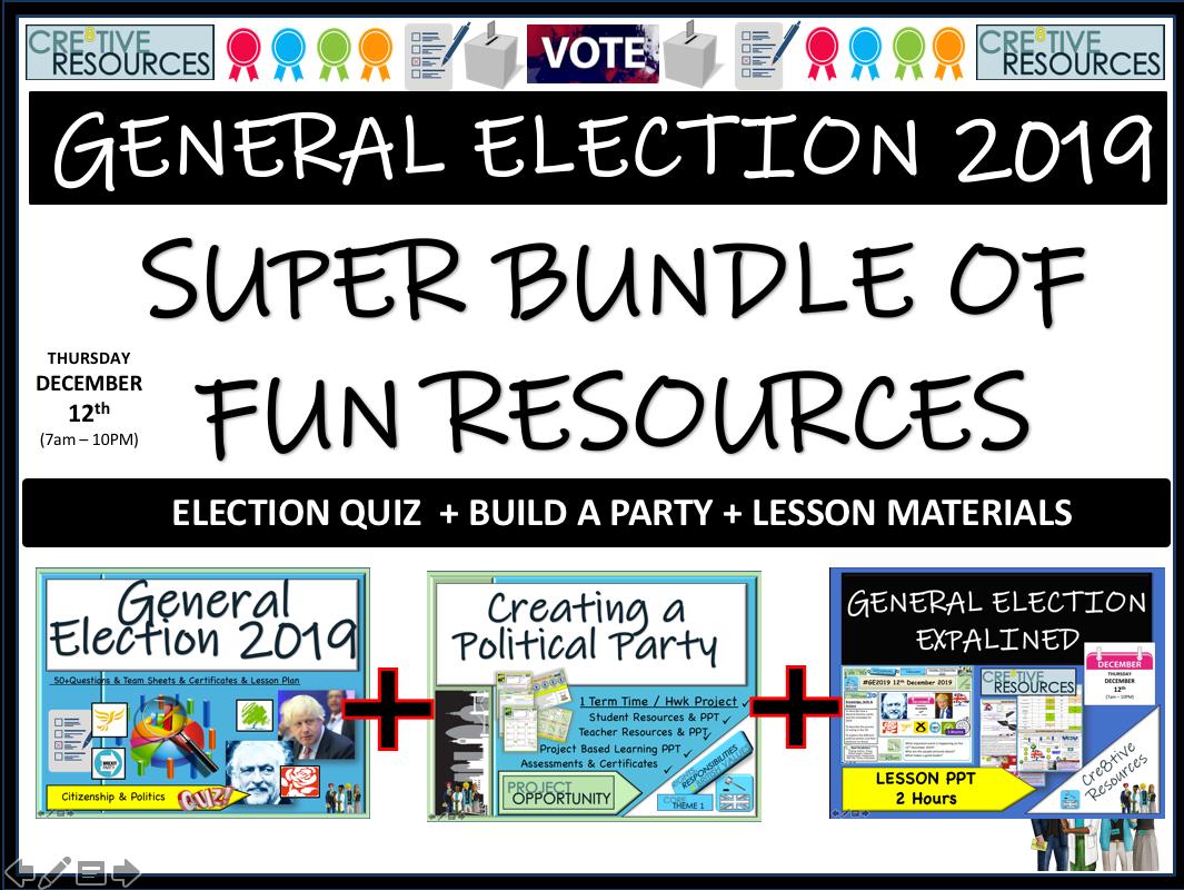 Political Party - General Election 2019 Bundle
