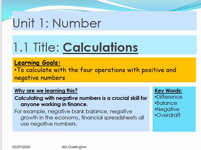 Year 8  Number Calculations
