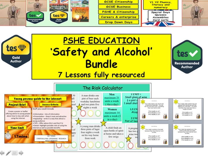 KS3 Safety and Alcohol x7 lessons SOW and PPTs - Alcohol, personal safety and conflict