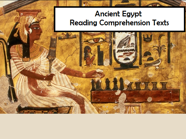 Ancient Egypt - Reading Comprehension Texts and Worksheets (SAVE 50%)