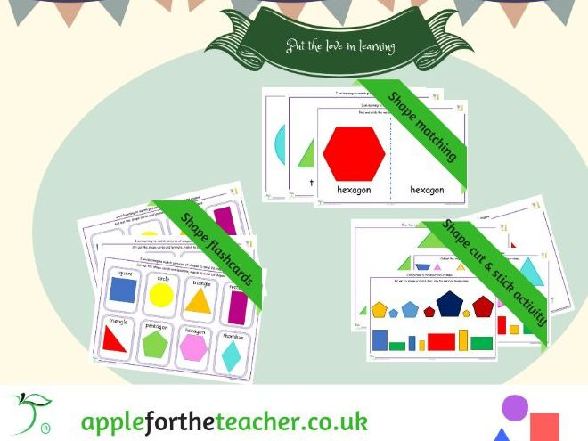 2D Shape activities 3 in 1 ideal for SEN EYFS and KS1