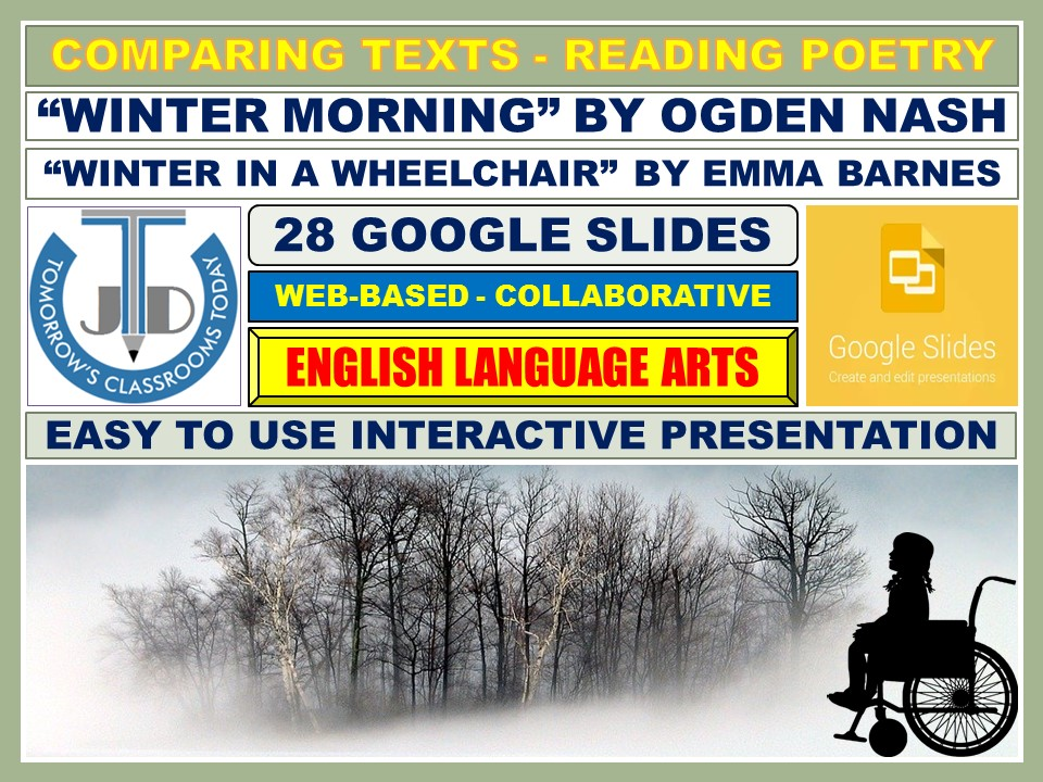 COMPARING TEXTS - READING WINTER POETRY: 28 GOOGLE SLIDES
