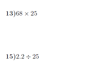 Mental calculations worksheet (with solutions)