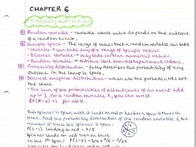 AS Maths Statistics notes- Chapter 6 (Statistical distribution)