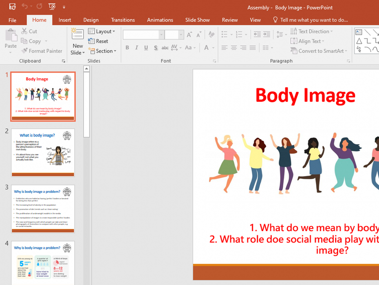 Body Image Assembly - Primary