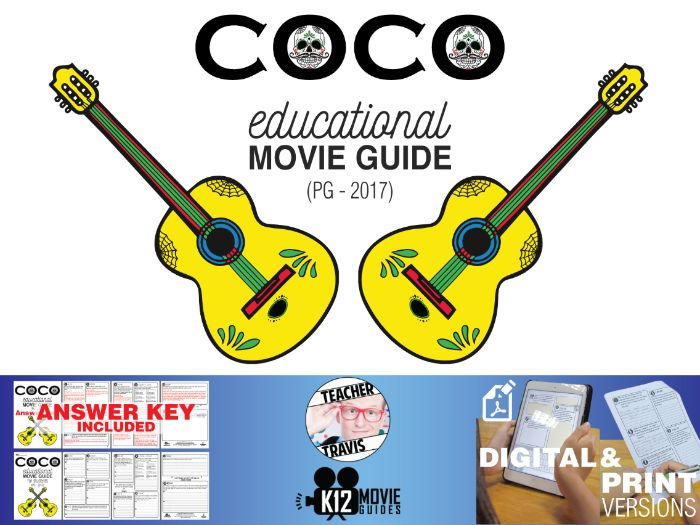 Coco Movie Guide | Questions | Worksheet (PG - 2017)