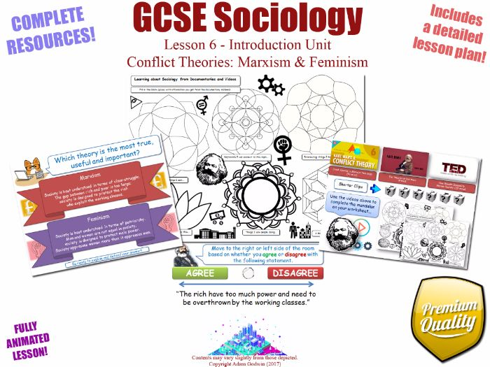 Conflict Theories: Marxism & Feminism - Introduction Unit L6/12 - GCSE Sociology