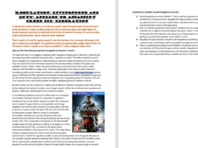 A-Level Media Assassins Creed case study revison pack