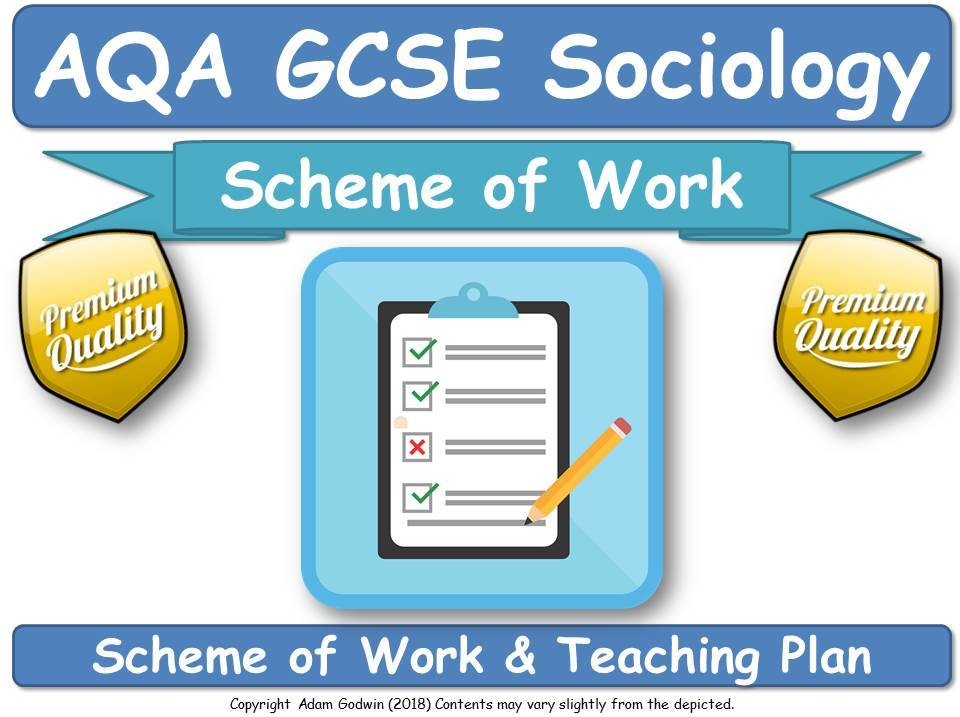 AQA GCSE Sociology [ 8192 ] - Scheme of Work for New Specification