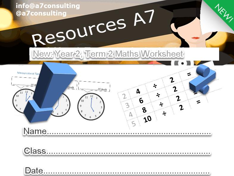 Year 2 Term 2 Maths Worksheet