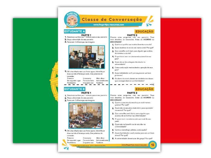 Educação - Portuguese Speaking Activity