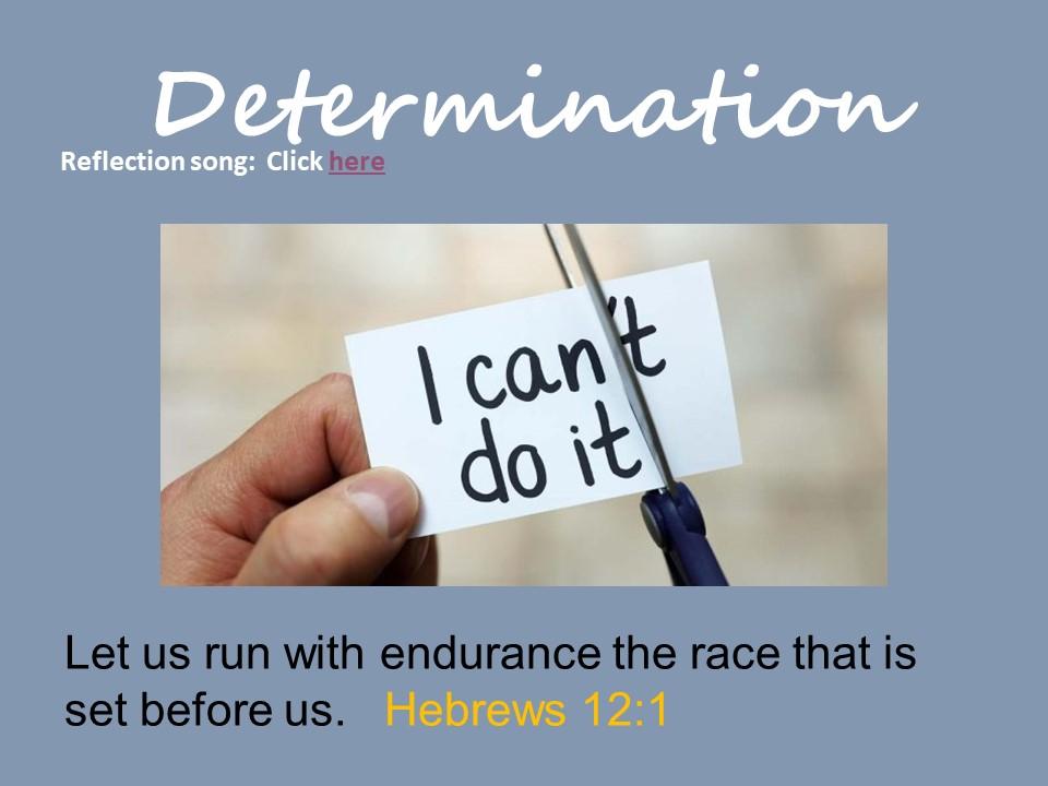 Determination - Collective Worship
