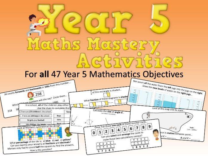 Year 5 Maths Mastery Activities