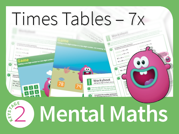 Times Tables Mastery - 7 Times Table