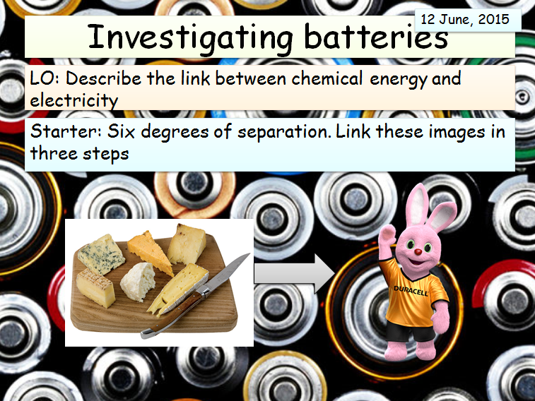 KS3 (Electricity Topic) - Investigating Batteries