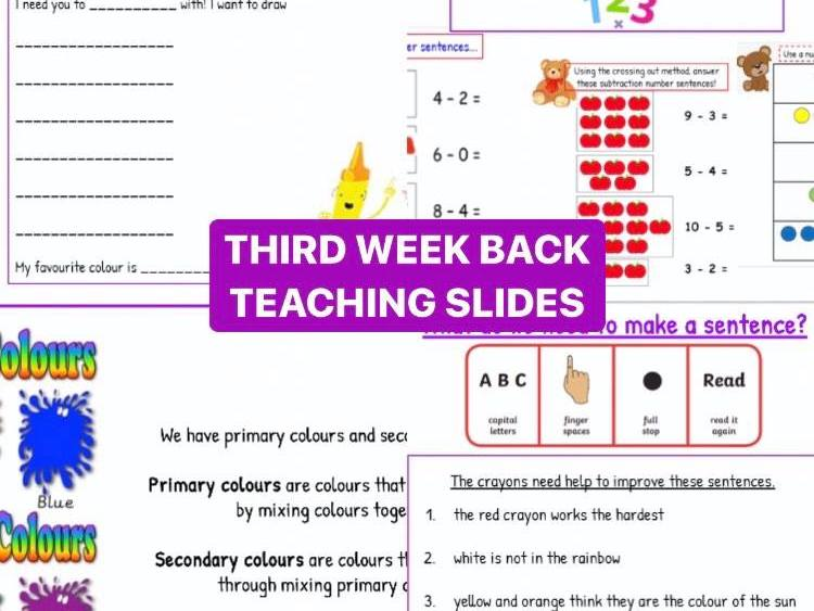 Back to School Teaching Slides (Week 3)