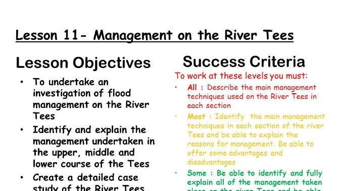 River Management - The river Tees