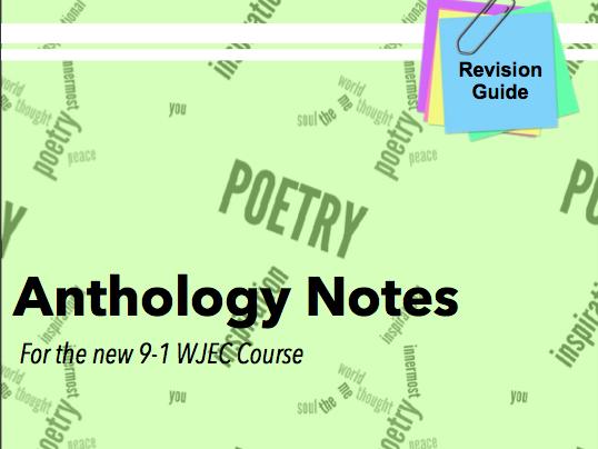 WJEC Anthology Poem Revision Guide
