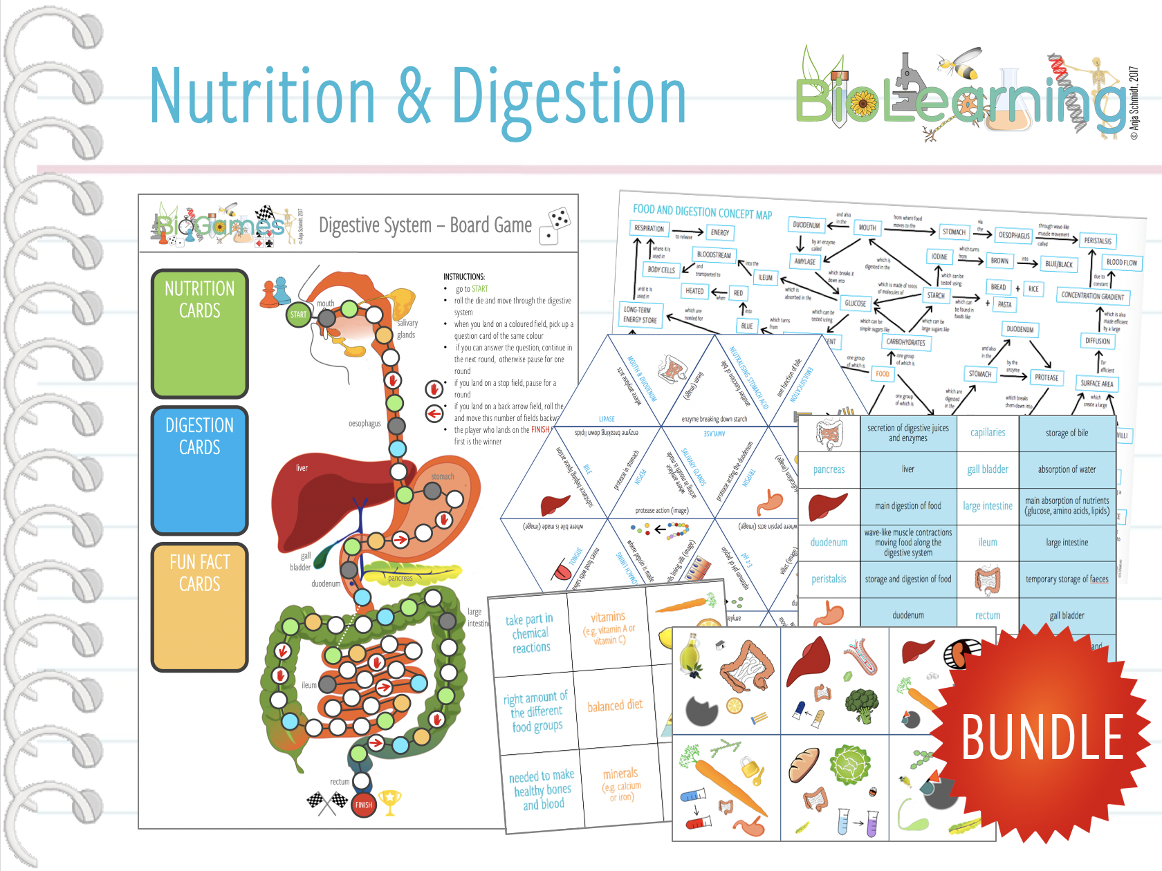 Nutrition and Digestion - 20x Activities and Games (KS3/4)