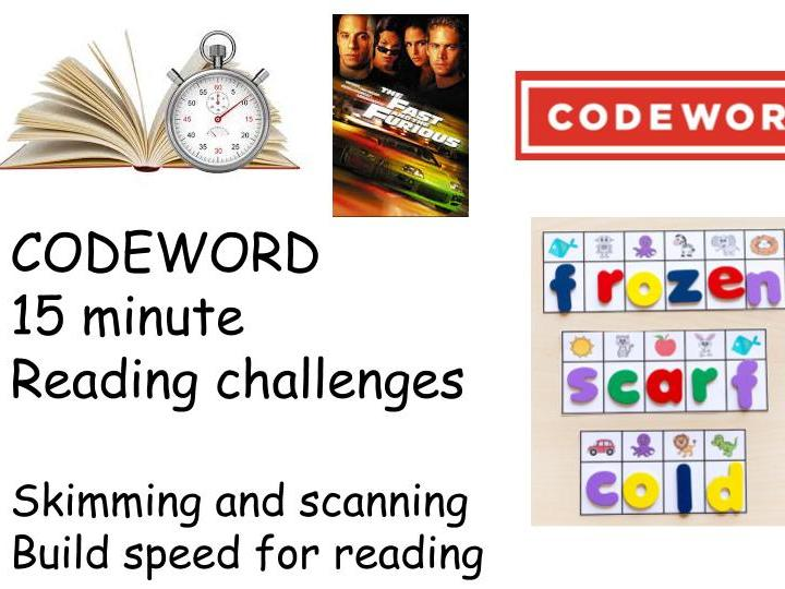 Codeword Reading Challenges - Famous People KS3