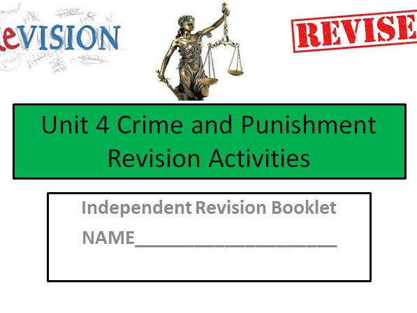 Criminology (NEW SPEC)Unit 4- Crime and Punishment -END OF UNIT REVISION