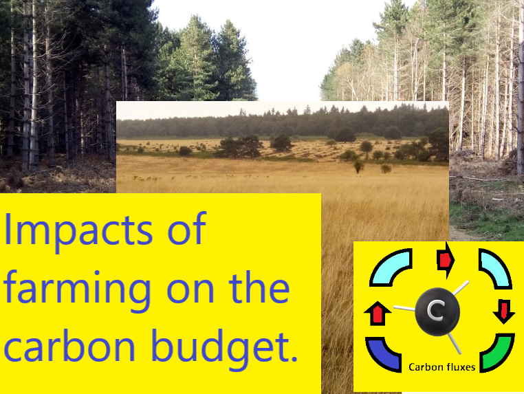 Impacts of farming on the carbon budget