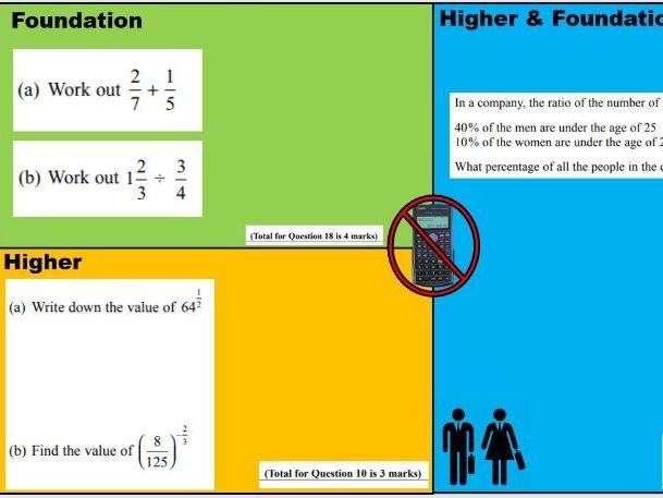 GCSE 9-1 Maths Starters (Target Grades 4-6)