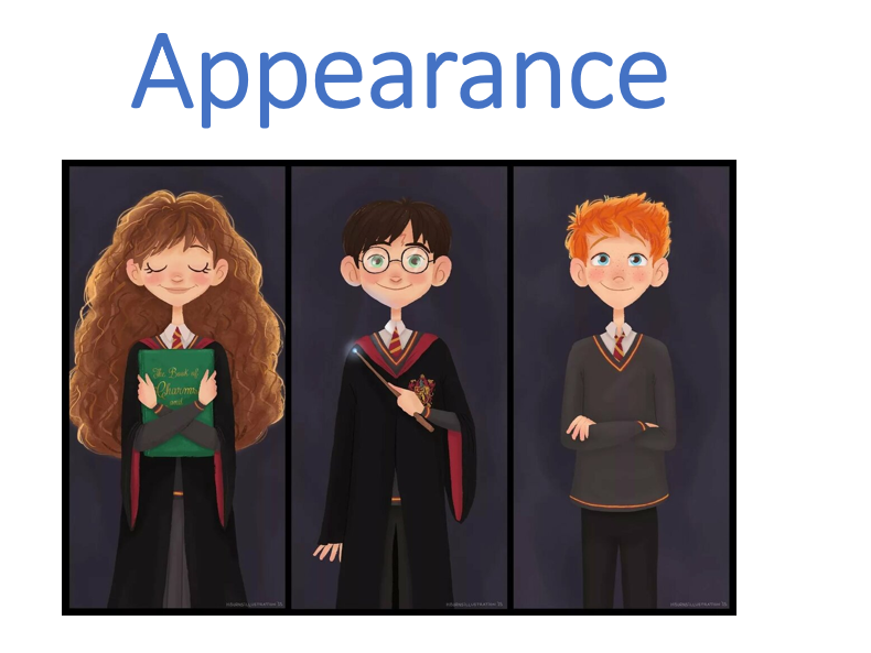 Lesson about appearance (based on Harry Potter characters and board game)
