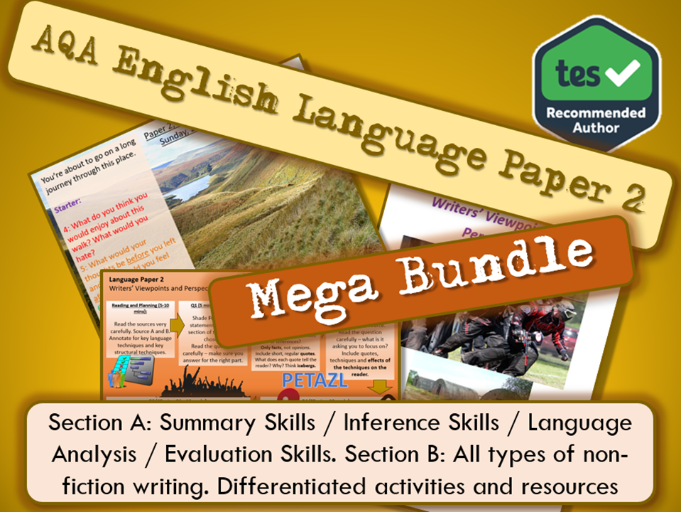 AQA English Language Paper 2 Section A and B