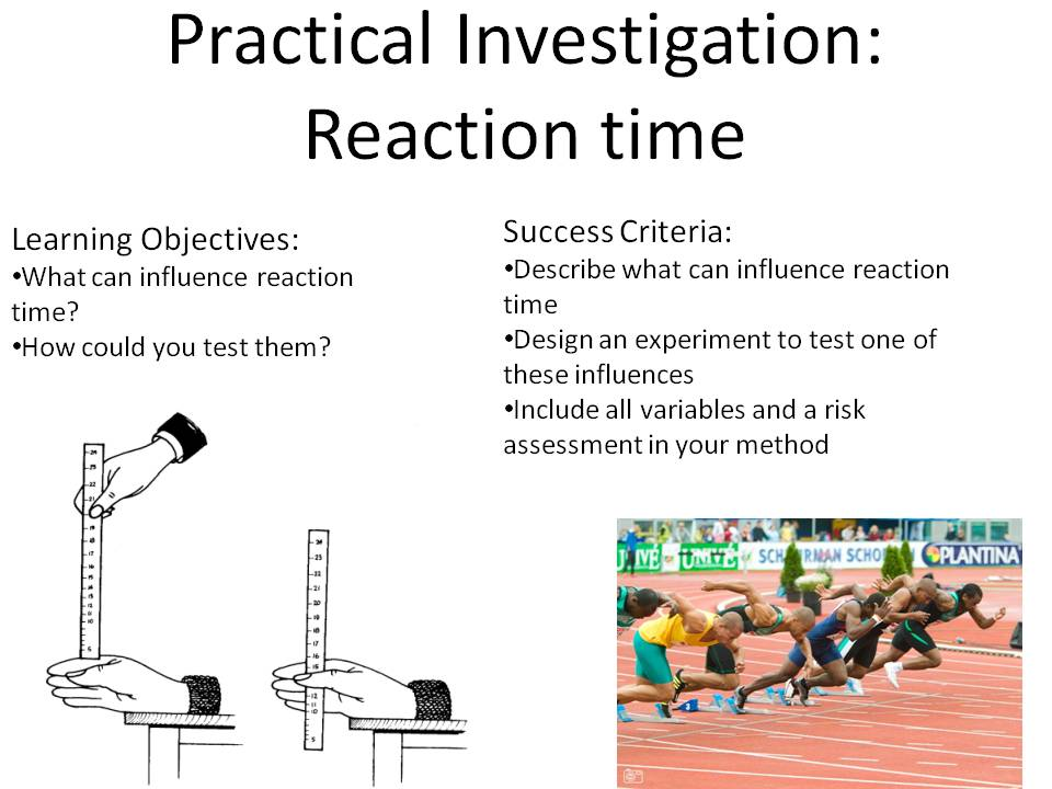 New GCSE 9-1 Reaction Time Practical