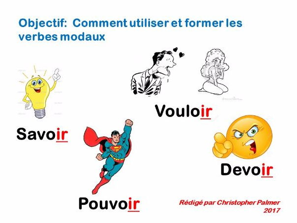 French: General lesson on modal verbs in the present tense (pouvoir, devoir, savoir, vouloir)